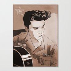 Serving Elvis Canvas Print