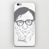 woody allen iPhone & iPod Skins featuring Woody Allen by Mai Gisselle Evangelista