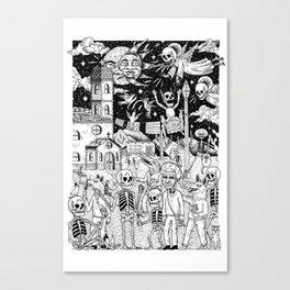 Caminata de fiesta Canvas Print
