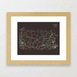 Pennsylvania Highways Framed Art Print