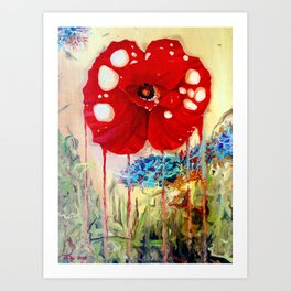 Poppy Painting Art Print