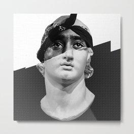 David by Michelangelo Collage Artwork vs Famous Rapper Metal Print
