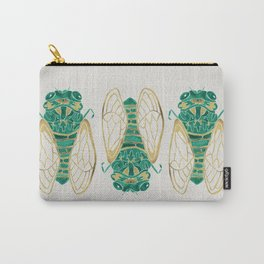 Cicada – Green & Gold Carry-All Pouch