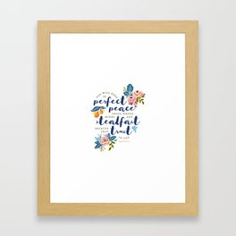 Perfect Peace Framed Art Print