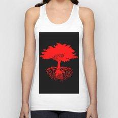 Heart Tree - Red Unisex Tank Top