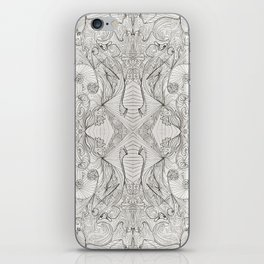 Lines (oh, let's enjoy the wild unknown, baby!) iPhone Skin