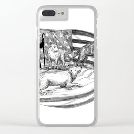 Sheepdog Protect Lamb from Wolf Tattoo Clear iPhone Case