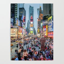Times Square Tourists Poster