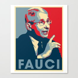 Doctor Anthony Fauci Hope and Truth Canvas Print