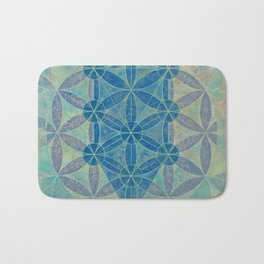 Flower of life Bath Mat