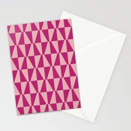 Mid Century Modern Geometric 315 Magenta and Pink Stationery Cards