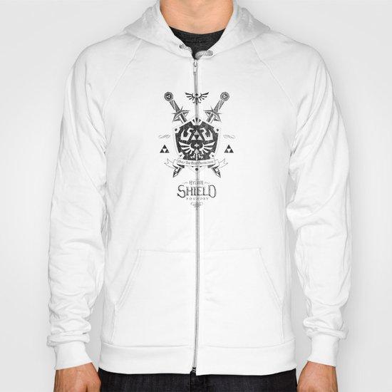 Legend of Zelda Hylian Shield Foundry logo Iconic Geek Line Artly Hoody