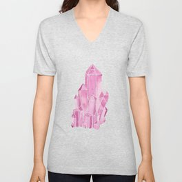 Rose Quartz Watercolor Unisex V-Neck