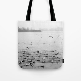 Water Birds in Winter Tote Bag