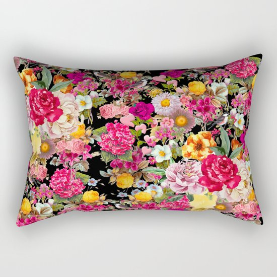 Fashion Botanic Pattern Rectangular Pillow