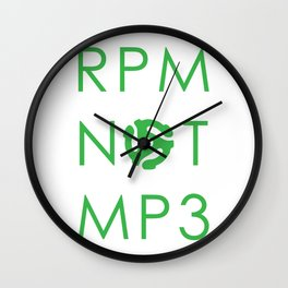 RPM NOT MP3 - Green Wall Clock