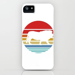 Retro Style T Shirt Silhouette Vintage Lion iPhone Case