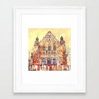 takmaj Framed Art Prints featuring Poznań by takmaj