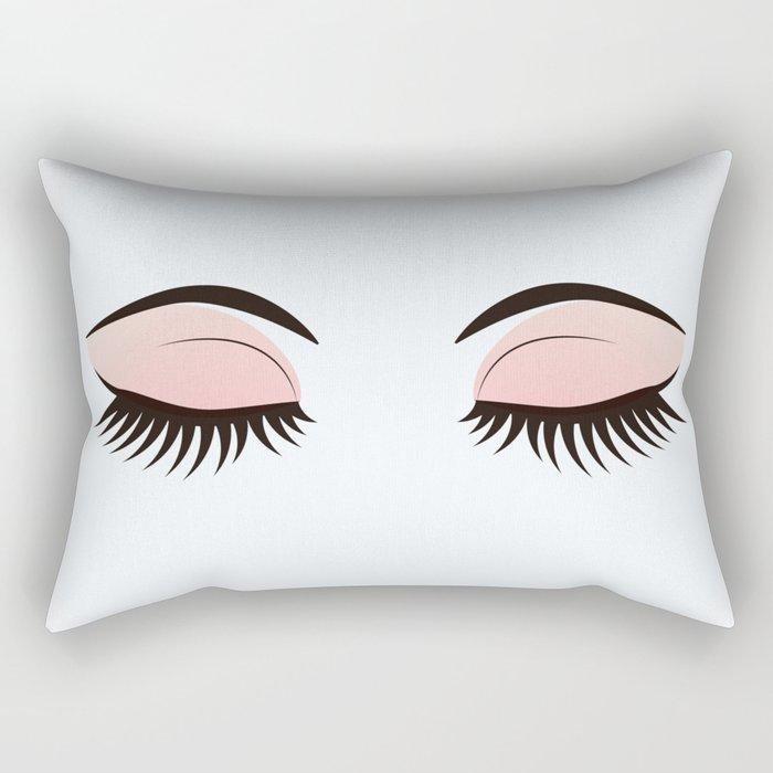 Eye Makeup Rectangular Pillow