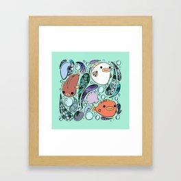 3 Fish Framed Art Print