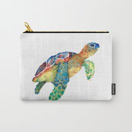 watercolour rainbow sea turtle Carry-All Pouch