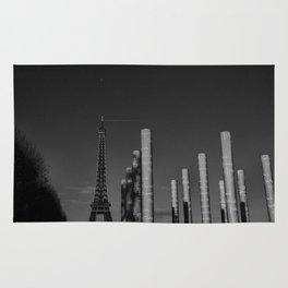 Paris en noir et blanc Tour Eiffel Rug