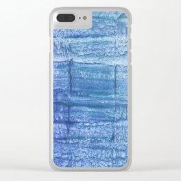 Deep blue painting Clear iPhone Case