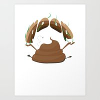 poop Art Prints featuring Poop by Slemdawg Hundredaire