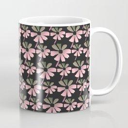 Daisies In The Summer Breeze - Pink Grey Black Coffee Mug
