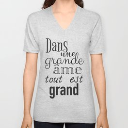 French success quote print Unisex V-Neck