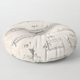 Engineering Patent - Engineers Slide Rule Art - Antique Floor Pillow