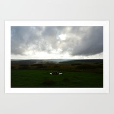 Evening sets over Kexwith Art Print