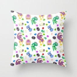 spyro pattern Throw Pillow