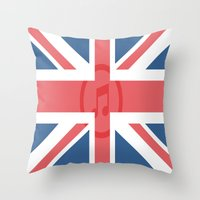 england Throw Pillows featuring  England by XKbeth