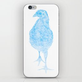 chick drawing, blue iPhone Skin