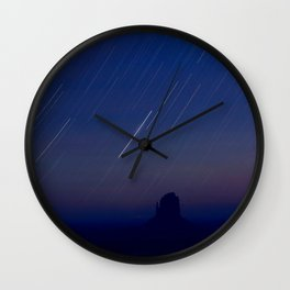 Monument Valley Star Trails Wall Clock