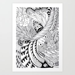 Ornate pattern Art Print
