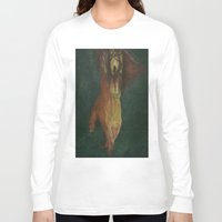 frankenstein Long Sleeve T-shirts featuring Frankenstein by Marilyn Foehrenbach Illustration