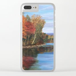 Autumn Splendor Clear iPhone Case