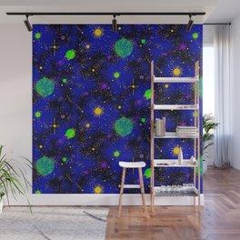 Wrinkle Planet Pattern Wall Mural