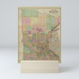 Sectional Map of Minnesota (1860) Mini Art Print