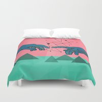 superheroes Duvet Covers featuring cool by mark ashkenazi
