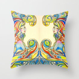 By Your Side  #society6 #decor #buyart Throw Pillow