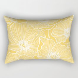 Sunshine Yellow Poppies Rectangular Pillow