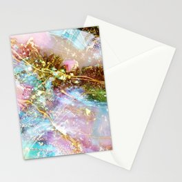 Opal and Gold Stationery Cards