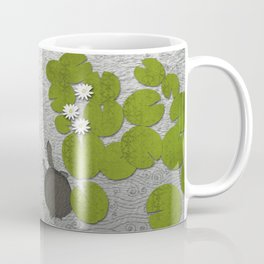 Water lilies with Florida Soft-shell Turtle Coffee Mug