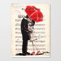 umbrella Canvas Prints featuring Umbrella by Krzyzanowski Art