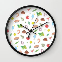 Dinner Party Wall Clock