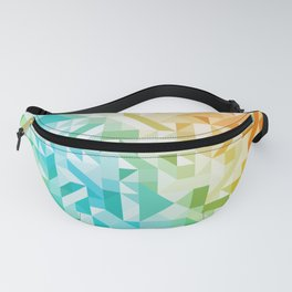 Colorful Geometric Pattern Saturated Rainbow Pattern Design (Red Pink Orange Yellow Green Blue) Fanny Pack