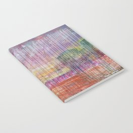 Destin Harbor Pink Sky Sunset abstract mixed media Notebook